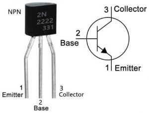 2N222A Pin Configuration & Symbol