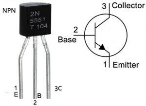2N5551 Transistor Pin Configuration