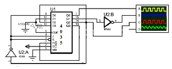 3 Phase Signal Generator with CD4035 Shift Register