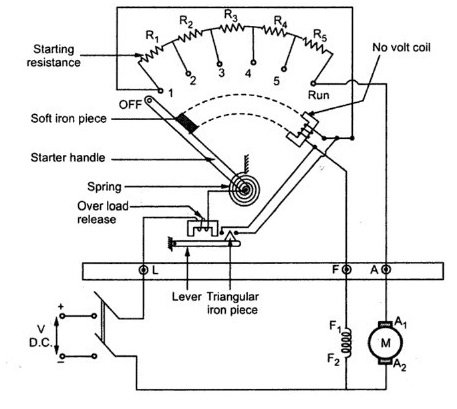 3 Point Starter Circuit Diagram