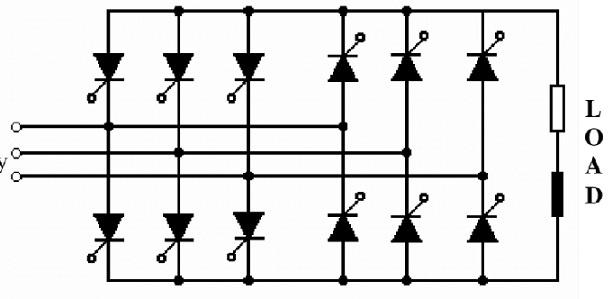 3-phase to 1-phase Phase Cycloconverter