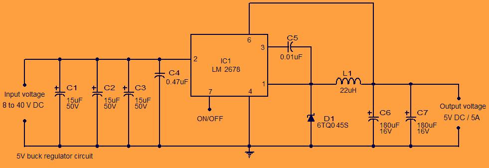 5V Buck Regulator Circuit