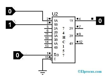 74HC157 Multiplexer circuit