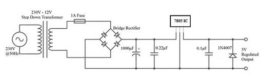 7805 Voltage Regulator Circuit