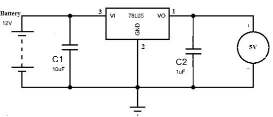 78L05 Voltage Regulator Circuit