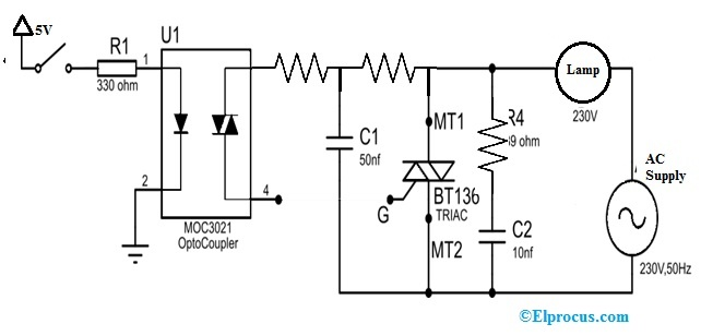 AC Power Control Circuit with BT136