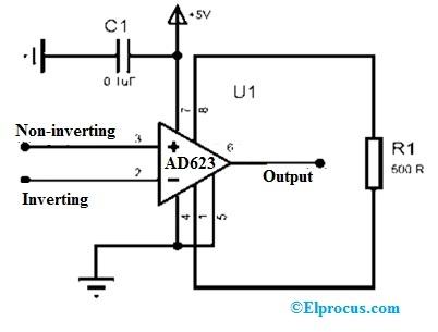 AD623 IC Circuit Diagram