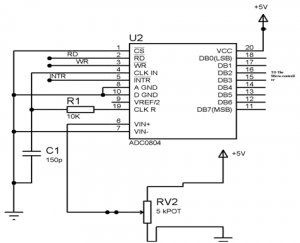 ADC0804 Circuit