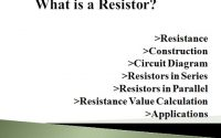 An Overview of a Resistor