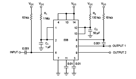 LM556 IC Circuit
