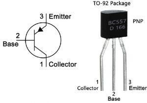 BC557 Pin Configuration & Symbol