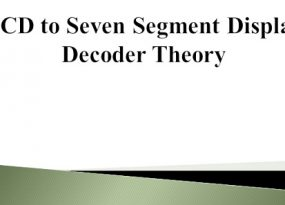 BCD to Seven Segment Display Decoder