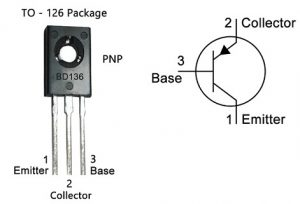 BD136 Transistor Pin Configuration