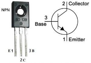 BD139 Transistor Pin Configuration