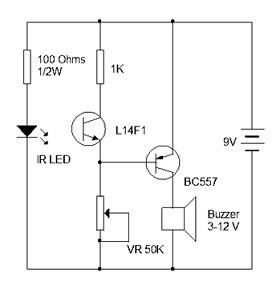 Burgler Alarm Simple Electronic Circuit