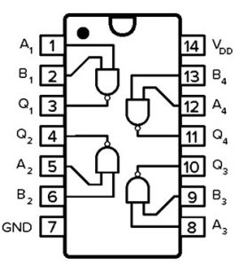 CD4011 IC Pin Configuration
