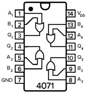 CD4071 IC Pin Configuration