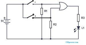 CD4071 OR Gate IC Circuit