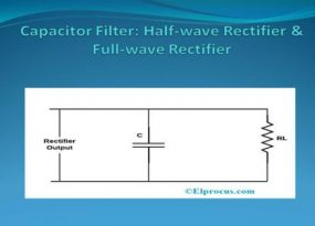 Capacitor Filter with Half wave and Full wave Rectifiers