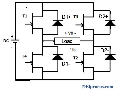 Circuit Diagram Of Full Bridge Single Phase Inverter