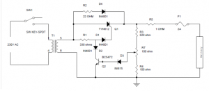 SCR based Simple Electrical Battery Charger using SCR