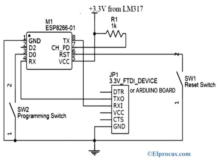Circuit Diagram of ESP8266 Module