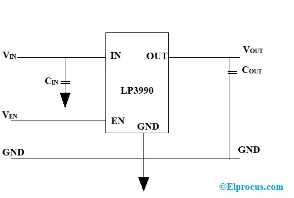 Circuit Diagram of LP3990