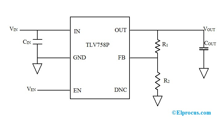 Circuit Diagram of TLV758P