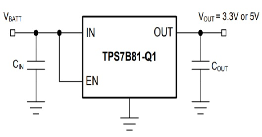 Circuit Diagram of TPS7B81-Q1