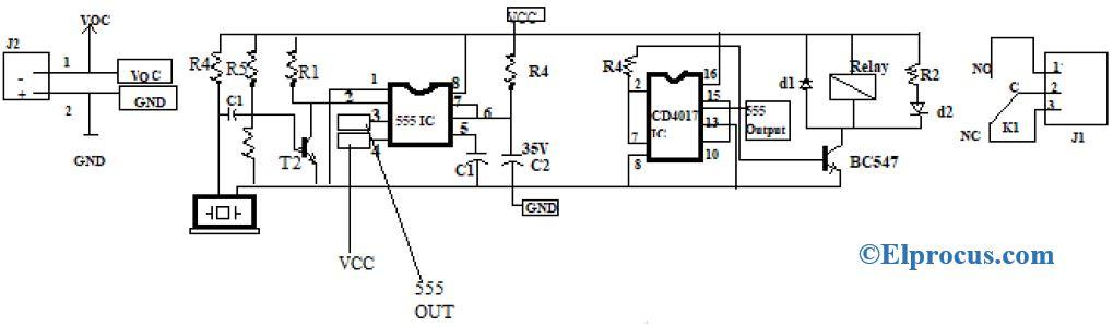Clap Switch Circuit Diagram