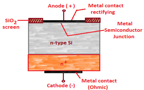 Construction of Schottky Barrier Diode