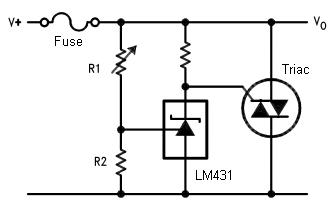 Crowbar Circuit using LM431 IC