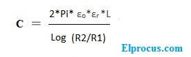 cylindircal-capactive-equation