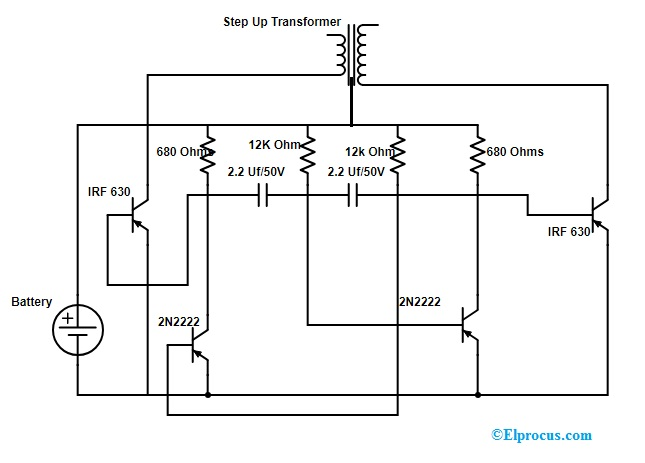 DC to AC Inverter : Circuit Working, Limitations and ... Ac To Dc Converter Schematic on