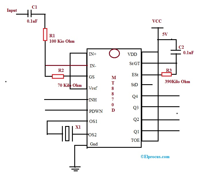DTMF based Decoder Circuit