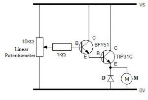 Darlington Transistor to Drive DC Motor