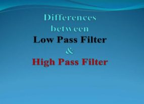 Differences between LPF and HPF