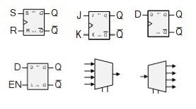 Electronic Circuit Symbols for Digital Logic Schematics