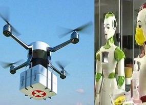 Drones and Robots used to Fight COVID-19