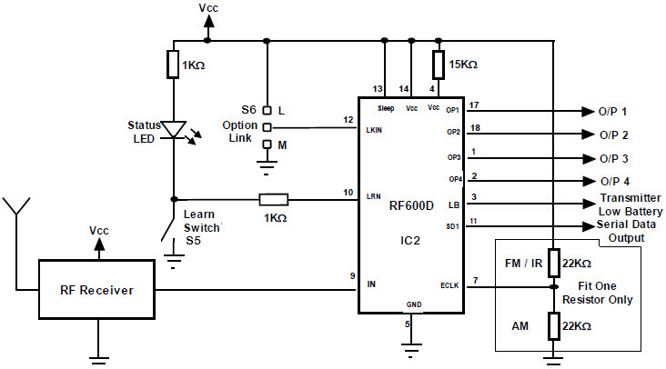 FM Remote Decoder Circuit- Stand Alone operation