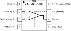IC 741 Pin Diagram