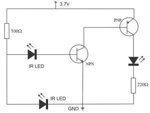 Ir sensor using lm358