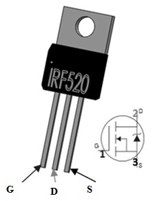 IRF520 MOSFET Pin Configuration