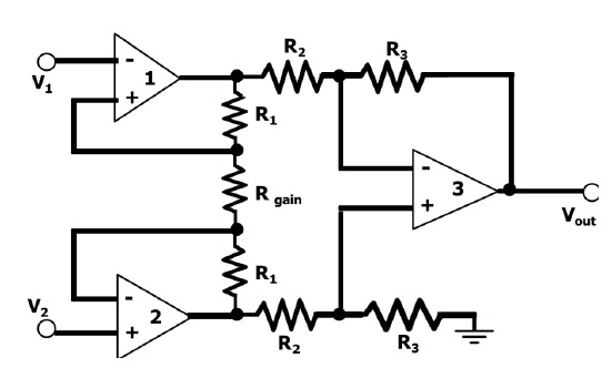 instrumentation amplifier  circuit diagram  advantages  and applications