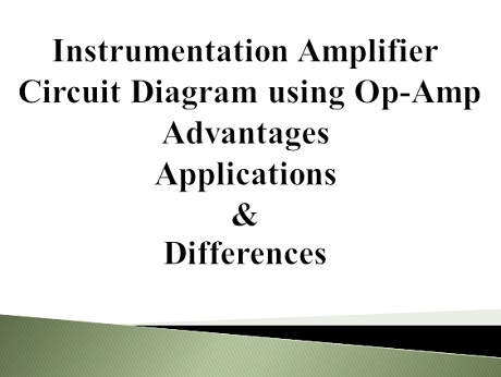 Peachy Instrumentation Amplifier Circuit Diagram Advantages And Applications Wiring 101 Capemaxxcnl
