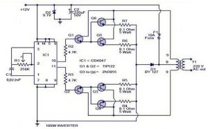 Inverter Circuit with 100W
