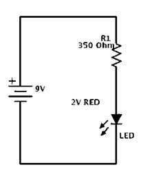 LED Simple Electronic Circuit