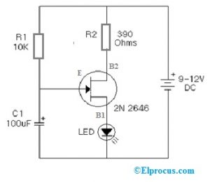 LED Flasher with 2N2646 UJT