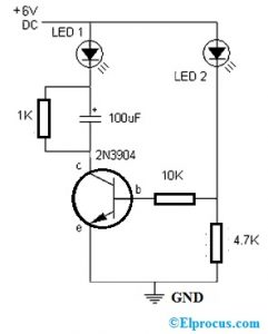 LED Flasher with 2N3904 Transistor