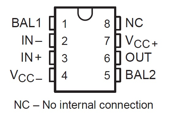 LF 351 IC Pin Configuration